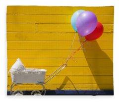 Buggy And Yellow Wall Fleece Blanket