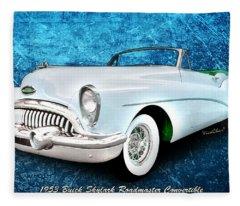 Buick Skylark Roadmaster Convertible For 1953 Fleece Blanket