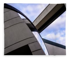 Buildings And Shapes With A Blue Sky In Orlando Florida Fleece Blanket