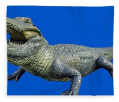 Bull Gator Transparent For T Shirts Fleece Blanket
