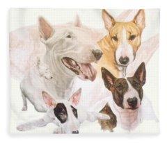 Bull Terrier Medley Fleece Blanket