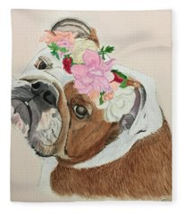 Bulldog Bridesmaid Fleece Blanket