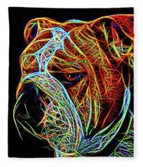 Bulldog English Fleece Blanket