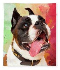 Bulldog Fleece Blanket