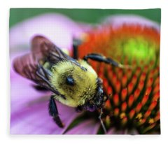 Bumble On A Cone Fleece Blanket