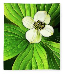 Bunchberry Blossom Fleece Blanket