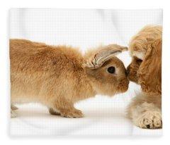 Bunny Nose Best Fleece Blanket