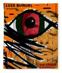 Bunuel Chien Andalou Poster  Fleece Blanket