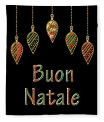 Buon Natale Italian Merry Christmas Fleece Blanket