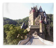 Burg Eltz. The Gate - Watercolor Fleece Blanket