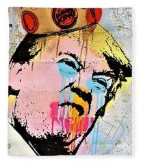 Burger King Trump Fleece Blanket