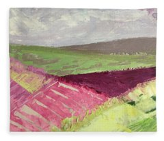Burgundy Fields Fleece Blanket