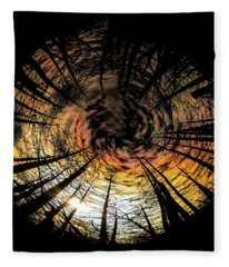 Burn Circle Fleece Blanket