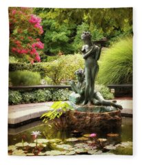 Burnett Fountain Garden Fleece Blanket