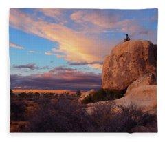 Burning Daylight Fleece Blanket