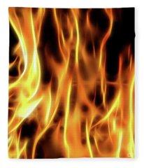 Burning Flames Fractal Fleece Blanket