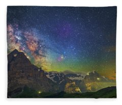 Burning Skies Fleece Blanket
