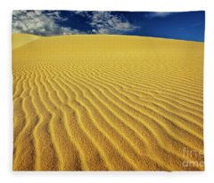 Burning Up At The White Sand Dunes - Mui Ne, Vietnam, Southeast Asia Fleece Blanket