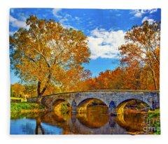 Burnside Bridge At Antietam Fleece Blanket
