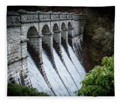 Burrator Reservoir Dam Fleece Blanket