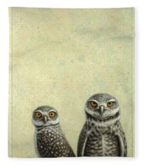 Burrowing Owls Fleece Blanket