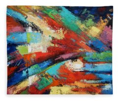 Burst Fleece Blanket