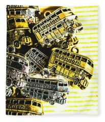 Bus Lines Fleece Blanket