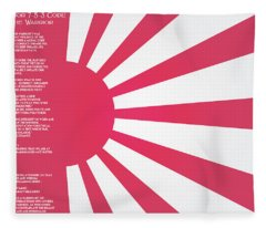 Bushido Warrior 7-5-3 Code, The Way Of The Warrior Fleece Blanket