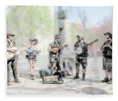 Busker Quintet Fleece Blanket