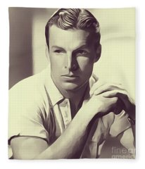 Buster Crabbe, Vintage Actor Fleece Blanket