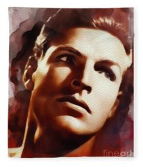 Buster Crabbe, Vintage Movie Star Fleece Blanket