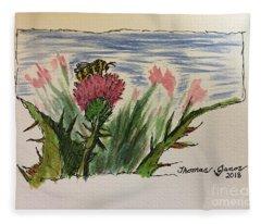 Busy Bumblebee  Fleece Blanket
