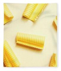 Butter Curls On White Background Fleece Blanket