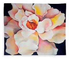 Butter Flower Fleece Blanket