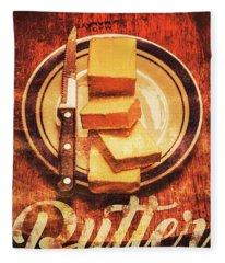 Butter Since Sliced Bread Display Fleece Blanket