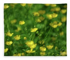 Buttercup Field- Butler Creek Trail- Gresham- Oregon Fleece Blanket