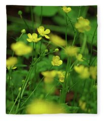 Buttercup Grouping- Vertical- Butler Creek Trail Fleece Blanket