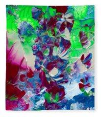 Butterflies, Fairies And Flowers Fleece Blanket