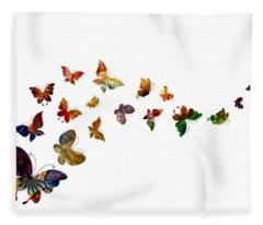 Butterflies Fleece Blanket
