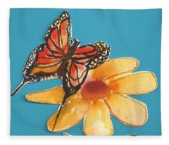 Butterflower Fleece Blanket