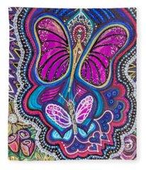 Butterfly Angels Fleece Blanket
