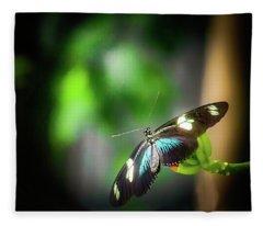 Butterfly At Cleveland Botanical Gardens Fleece Blanket