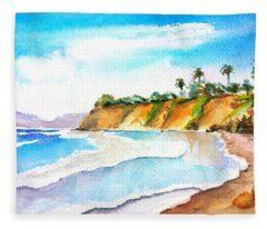 Butterfly Beach Santa Barbara Fleece Blanket