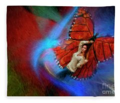 Butterfly Beauty Fleece Blanket