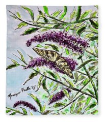 Butterfly Bush Fleece Blanket