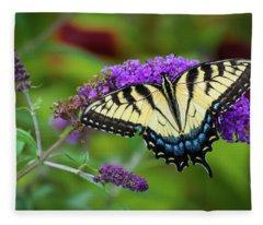 Butterfly Color Fleece Blanket