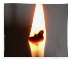 Butterfly Flame Close Up Fleece Blanket