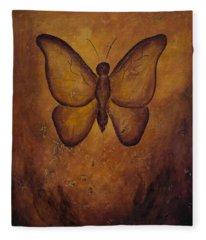 Butterfly Freedom Fleece Blanket