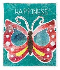 Butterfly Happiness Fleece Blanket