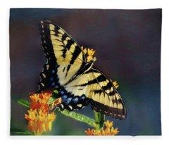 Butterfly Landing Fleece Blanket